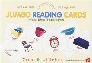 My First Academy Jumbo Reading Cards : Common Items in the Home - Ulrich Vn. Helleshaar