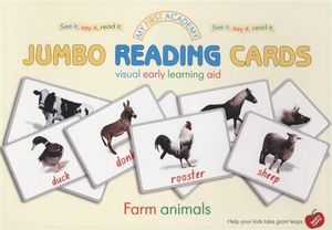 Farm Animals : My First Academy Jumbo Reading Cards - Darya Zubkova