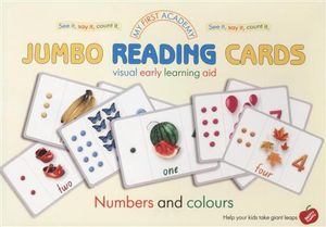 Numbers and Colours : My First Academy Jumbo Reading Cards - Darya Zubkova