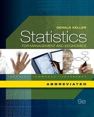Statistics for Management and Economics : Abbreviated - Gerald Keller