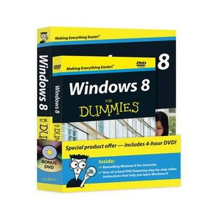 Windows 8 for Dummies Book + DVD Bundle - Andy Rathbone