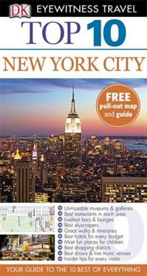 DK Eyewitness Top 10 Travel Guide : New York City - Dorling Kindersley