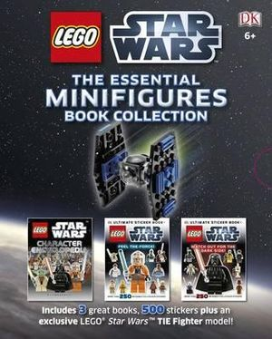 LEGO Star Wars : The Essential Minifigures Book Collection (Boxed Set) : Includes 3 Books, 200 stickers plus an exclusive LEGO Star Wars Tie Fighter Model