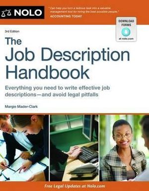 The Job Description Handbook Marjorie Mader-Clark