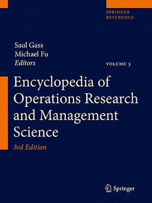 Encyclopedia of Operations Research and Management Science - Saul I. Gass