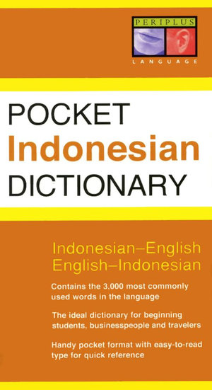 Pocket Indonesian Dictionary - Zane Goebel