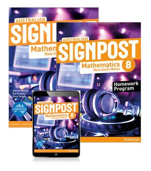Australian Signpost Mathematics New South Wales 8  : Student Book/Homework Program/eBook 3.0 Combo Pack - Australian Curricullum - Alan McSeveny