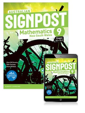 Australian Signpost Mathematics New South Wales 9 (5.1-5.2)  : Student Book/eBook 3.0 Combo Pack - Australian Curricullum - Alan McSeveny