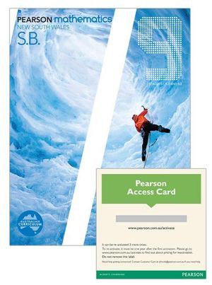 Pearson Mathematics New South Wales 9 Stages 5.1, 5.2 and 5.3 : Student Book/eBook 3.0 Combo Pack - Australian Curricullum - Gael et al McLeod