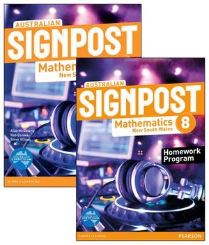 Australian Signpost Mathematics New South Wales 8 : Student Book / Homework Book Value Pack - Australian Curricullum - Alan McSeveny