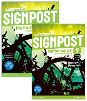 Australian Signpost Mathematics New South Wales 9 (5.1-5.2)  : Student Book / Homework Book Value Pack - Australian Curricullum - Alan McSeveny