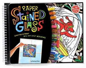 Klutz : Paper Stained Glass : Color-By-Number Art for Your Windows with Other and Pens/Pencils and Frame - Barbara Kane