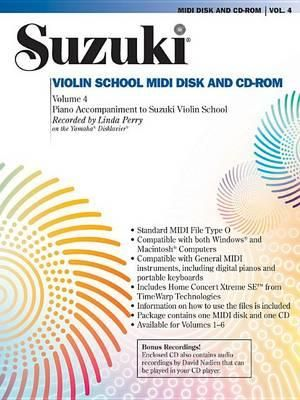 Suzuki Violin School, Vol 4 : General MIDI Disk CD-ROM - Linda Perry