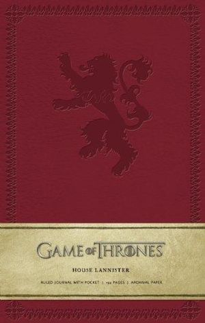 Game of Thrones Ruled Journal : House of Lannister - Insight Editions