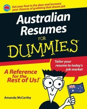 booktopia australian resumes for dummies by amanda
