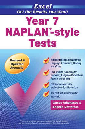 Excel NAPLAN-style Tests  : Year 7 - Excel