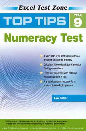Excel Top Tips for Year 9 Numeracy Test - Lyn Baker