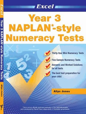 Excel NAPLAN-style Numeracy Tests : Year 3 - Excel