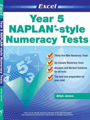 NAPLAN-style Numeracy Tests : Year 5 : Excel - Excel