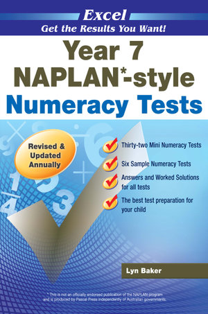 NAPLAN-style Numeracy Tests: Year 7 : Excel - Excel