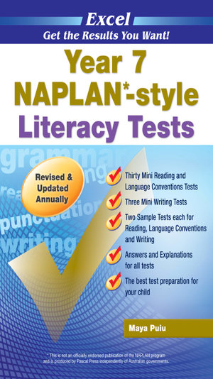 Excel NAPLAN* style Literacy Test  : Year 7 - Excel