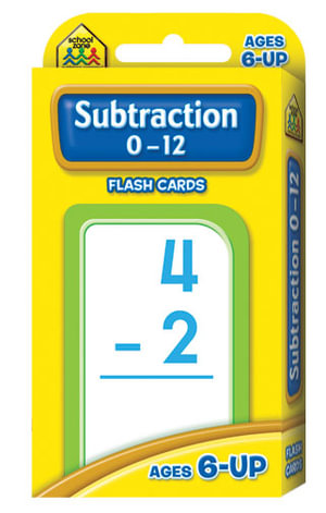 Subtraction 0-12 : Flash Cards - School Zone