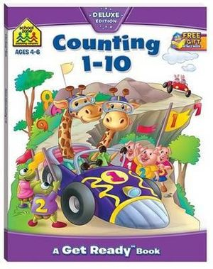 Counting 1-10 : School Zone Get Ready Deluxe Workbooks Ser. - Hinkler Books Staff