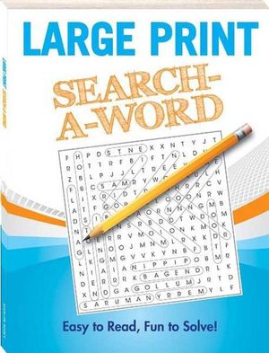 Booktopia - Large Print : Search-A-Word (2) by Hinkler Books Staff ...
