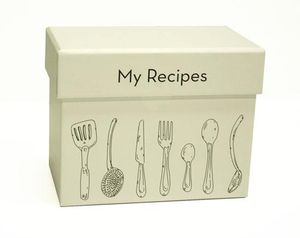 Recipe Cards And Box Recipe Card Box Utensils New
