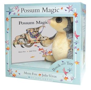 Possum Magic Plush Box Set with Fluffy Possum Toy - Mem Fox