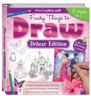 booktopia funky things to draw deluxe edition binder