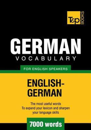 T&p English-German Vocabulary 7000 Words - Andrey Taranov