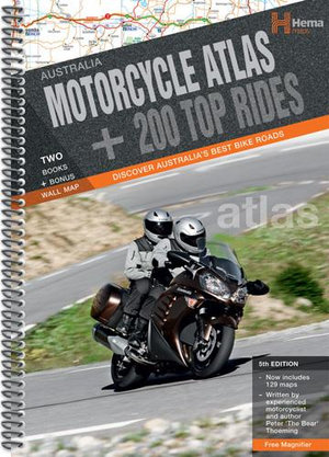 Hema : Australia Motorcycle Atlas Plus 200 Top Rides : 5th Edition - Hema Maps
