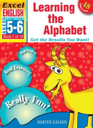 Excel Early Series Age 5-6 English Book 7: Learning the Alphabet Workbook - Hunter Calder