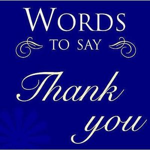 Words That Say Thank You