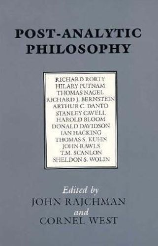 NEW Post-Analytic Philosophy By John Rajchman Paperback Free Shipping