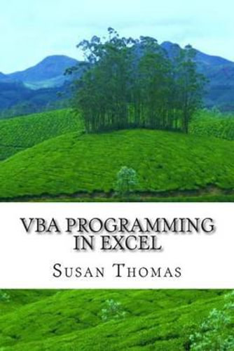 NEW VBA Programming in Excel By Mrs Susan Thomas Paperback Free Shipping