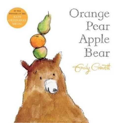 NEW Orange Pear Apple Bear By Emily Gravett Paperback Free Shipping