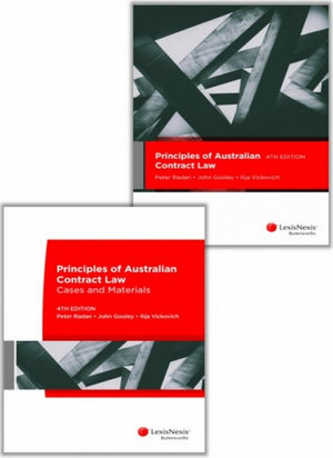 Cover of PRINCIPLES OF AUSTRALIAN CONTRACT LAW, 4TH EDITION AND PRINCIPLES OF AUSTRALIAN CONTRACT LAW