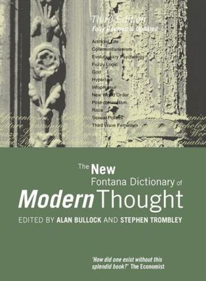 Cover of The New Fontana Dictionary of Modern Thought