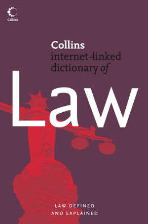 Cover of Collins Dictionary of Law