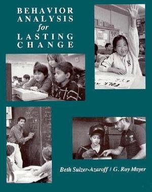 Cover of Behavior analysis for lasting change