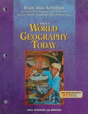 Booktopia  Holt World Geography Today: Main Idea Activities for English Language Learners and