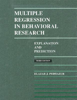Cover of Multiple Regression in Behavioral Research