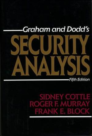 Cover of Graham and Dodd's security analysis