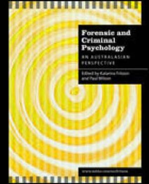 Cover of Forensic Psychology and Criminology: An Australasian Perspective