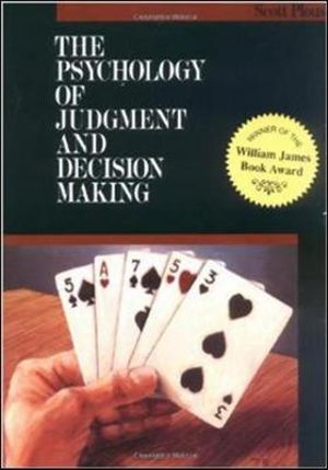 Cover of The Psychology of Judgment and Decision Making