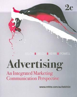 Cover of Advertising: An Integrated Marketing Communication Perspective