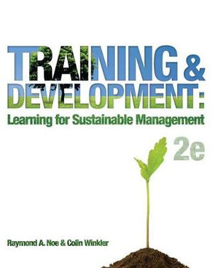 Cover of Training and Development: Learning for Sustainable Management