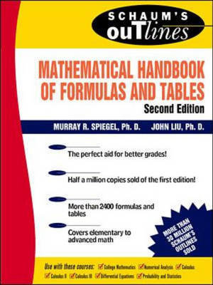 Cover of Mathematical Handbook of Formulas and Tables